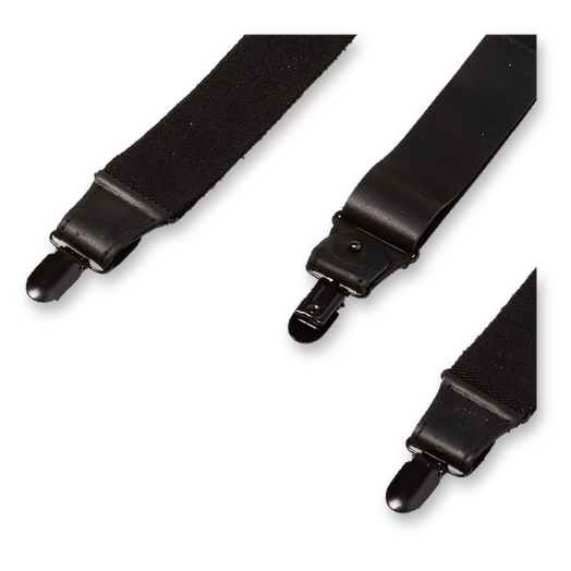 Wiseguy Suspenders - Charger Heavy all Black (3)