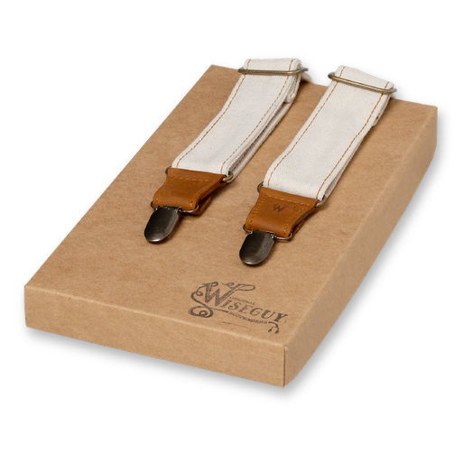 Wiseguy Suspenders - The Duck Ivory Denim (1)
