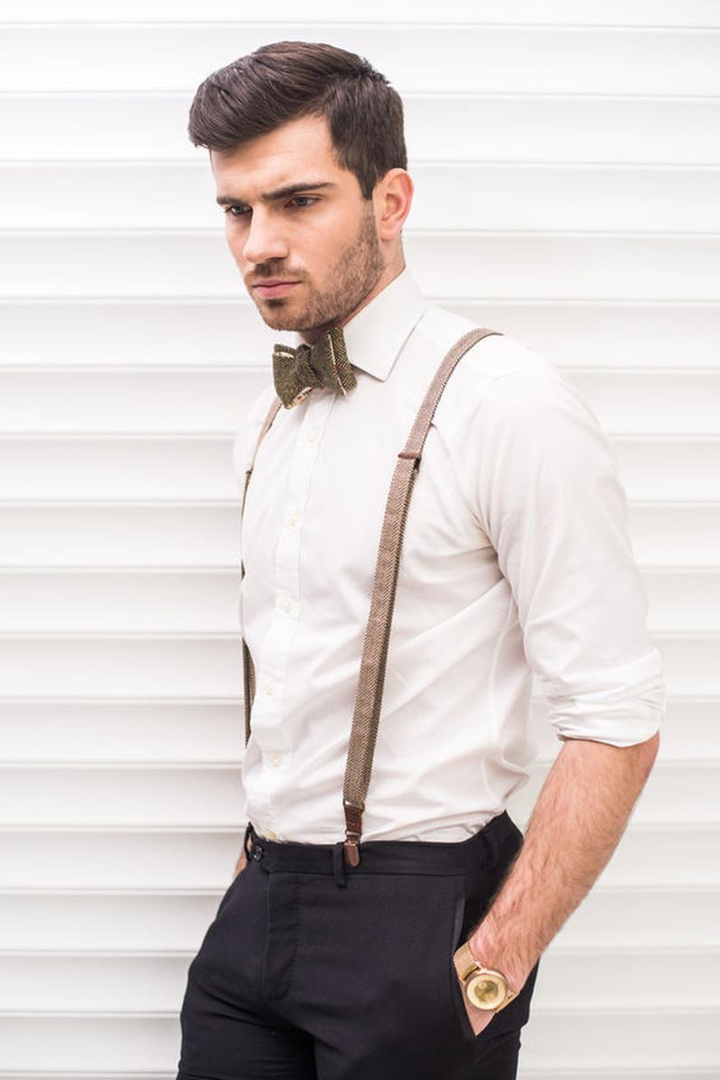 hohe Qualität heiß-verkaufende Mode geeignet für Männer/Frauen Braune Hosenträger